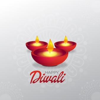 Diwali desidera il design della carta