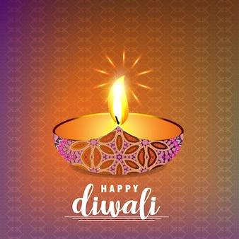 Diwali design con sfondo chiaro e tipografia vettoriale