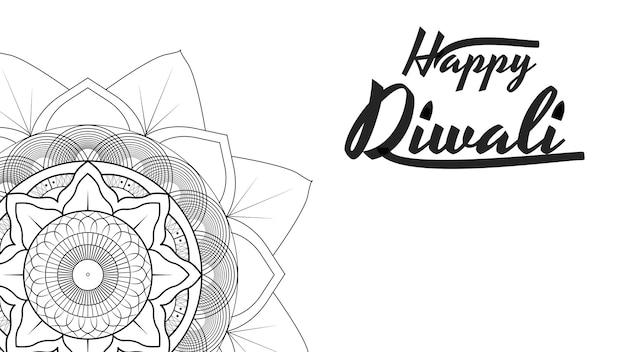Diwali festival template con mandala