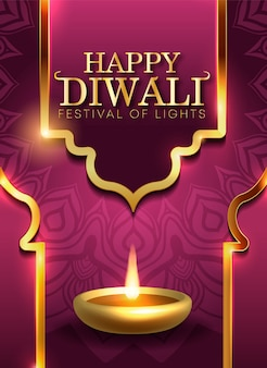 Diwali holiday background per il festival della luce dell'india
