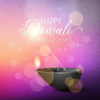 Diwali illumina lo sfondo