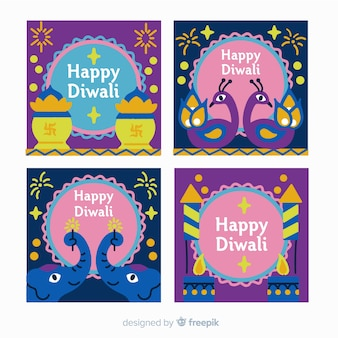 Diwali instagram post set