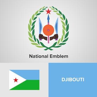 Djibouti national emblem and flag