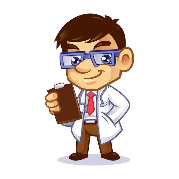 Doctor geek mascot design