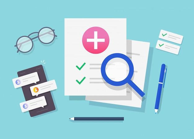 Documento del rapporto di ricerca di salute medica
