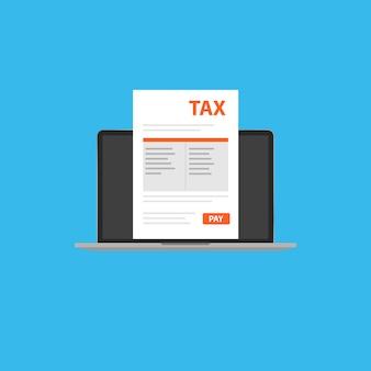 Documento fiscale nel tuo laptop.