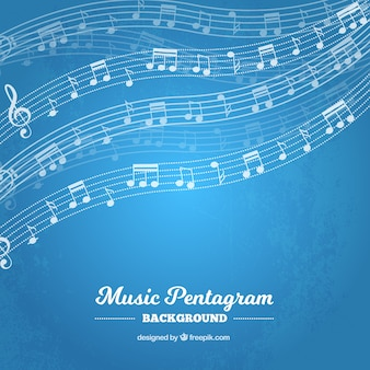 Doghe blu con le note musicali