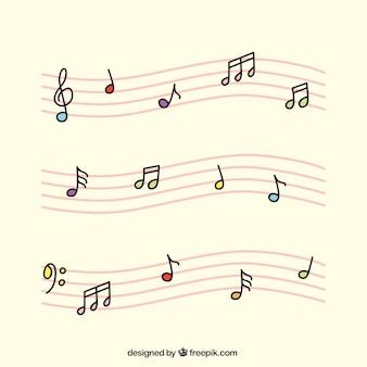 Doghe rosa con le note musicali