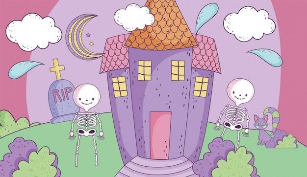 Dolcetto o scherzetto felice halloween