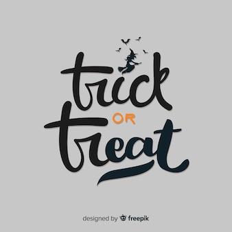 Dolcetto o scherzetto lettering di halloween