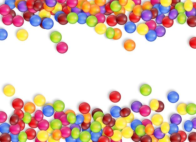 Dolci di caramelle con uno sfondo bianco