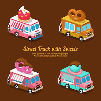 Dolci food truck, dolce isometrico