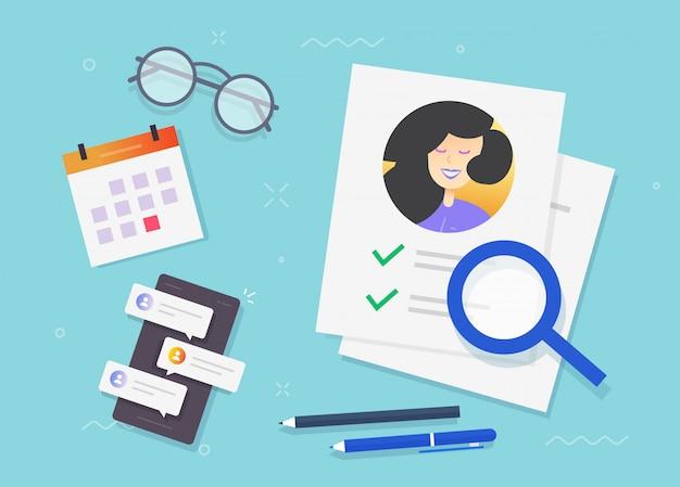 Domanda di test di assunzione con lista di controllo di approvazione sul posto di lavoro