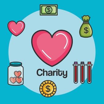 Donazione di carità e lavoro volontario