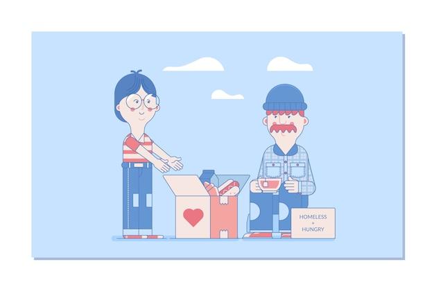 Donazione vettoriale illustrazioni di concetto
