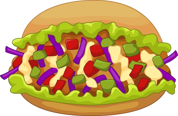 Doner di kebab di cartone animato