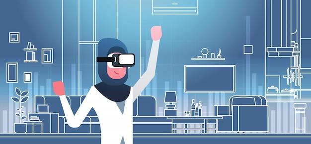 Donna araba con gli occhiali 3d
