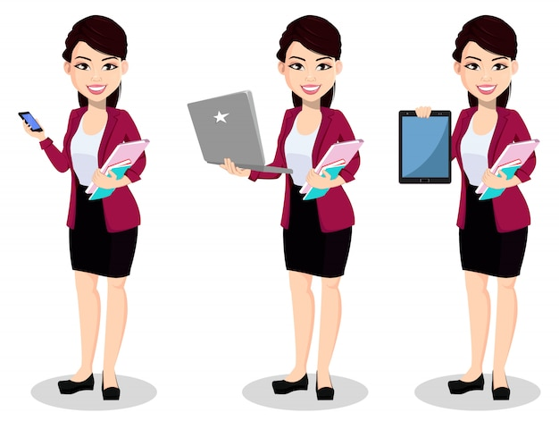 Donna asiatica di affari in vestiti dell'ufficio