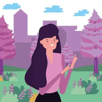 Donna avatar nel parco