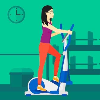 Donna che fa esercizi