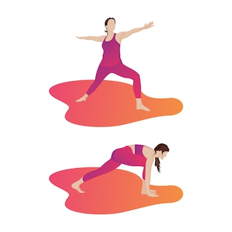 Donna che fa yoga