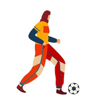 Donna che gioca a calcio
