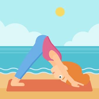 Donna che pratica yoga.