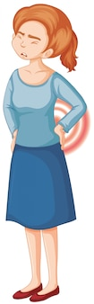 Donna con mal di schiena