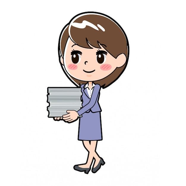 Donna d'affari fuori linea