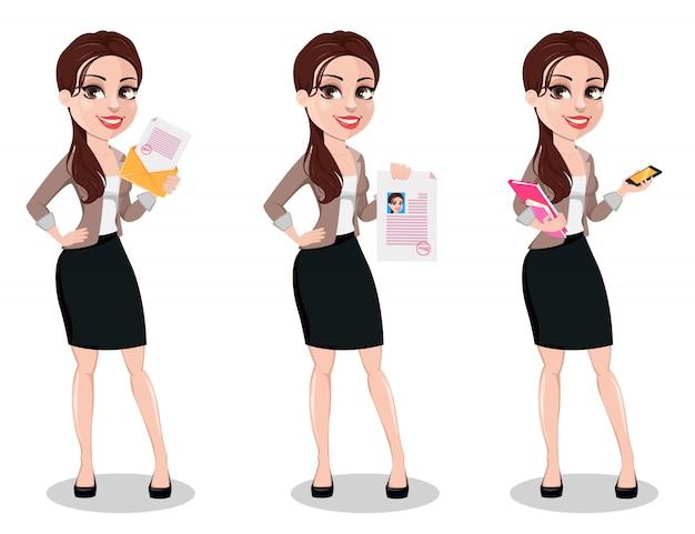 Donna d'affari in abiti casual