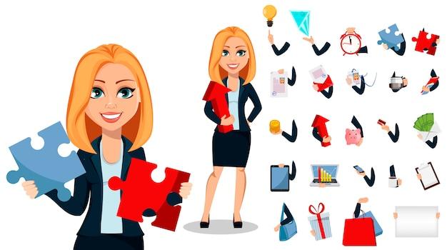 Donna d'affari in abiti stile ufficio