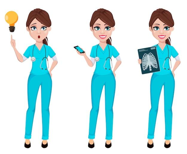 Donna del medico, un insieme di tre pose