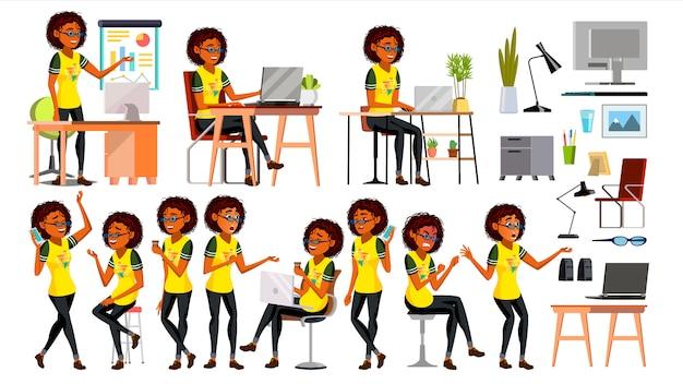Donna di affari africana di colore