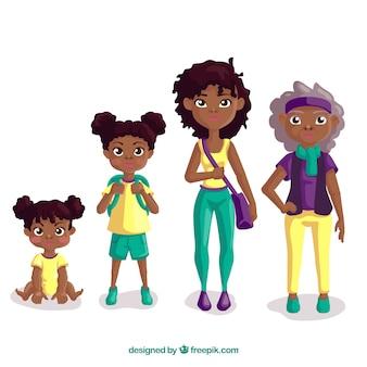 Donna di colore in epoche diverse