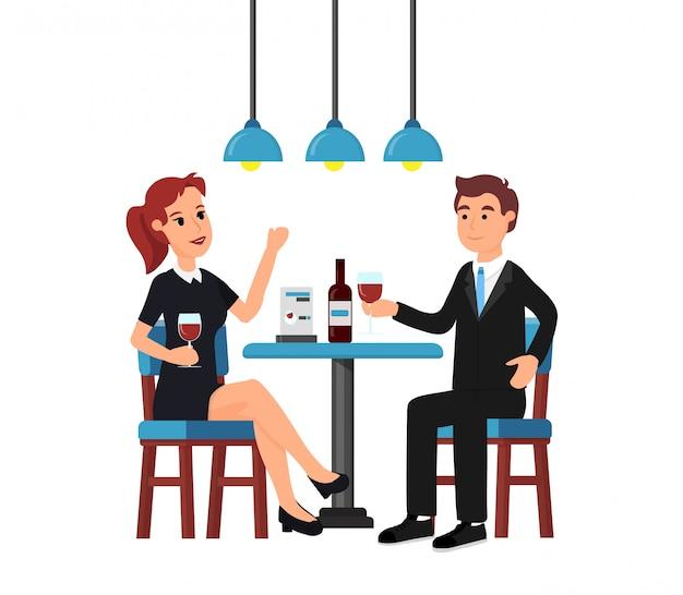 Donna e uomo nella caffetteria