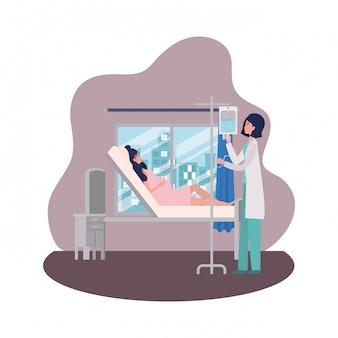 Donna incinta e medico isolati