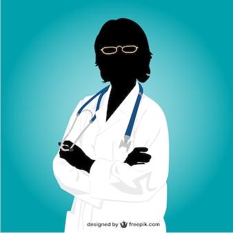 Donna medico silhouette