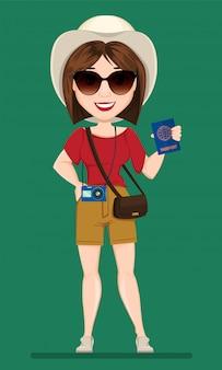 Donna turistica