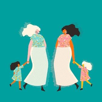 Donne con bambini