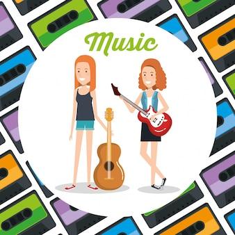 Donne con chitarre che suonano