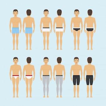 Donne shapewear o illustrazione correttiva femminile di vettore della biancheria intima