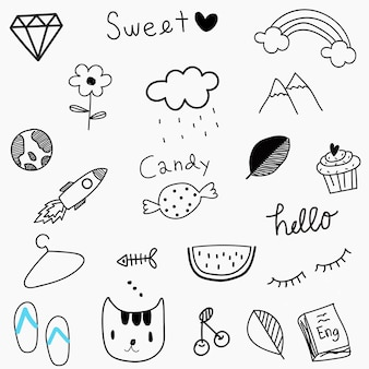 Doodle colletion in bianco e nero