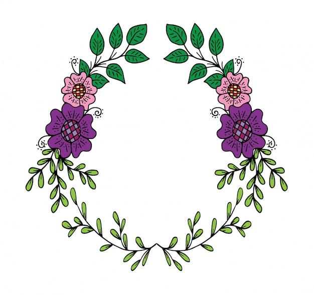 Doodle cornice con fiori