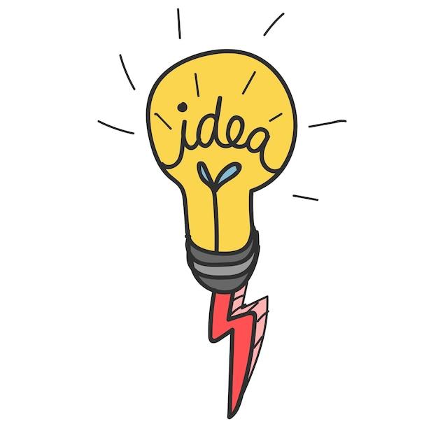 Doodle dell'icona della lampadina