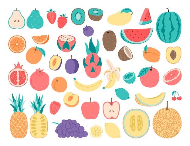 Doodle di disegno a mano, frutta.