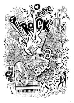 Doodle di disegno a mano