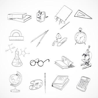 Doodle di icona di educazione