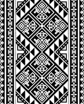 Doodle di lavagna tribal aztec seamless pattern