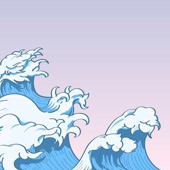 Doodle di onda giapponese