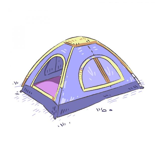 Doodle di tenda.